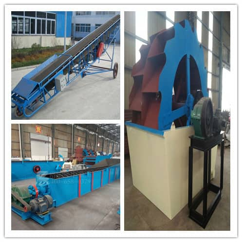 The dewatering screen cannot be separated from auxiliary equipment.