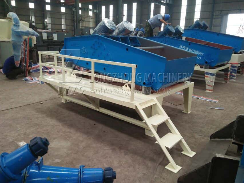 The process of Dewatering Screen material