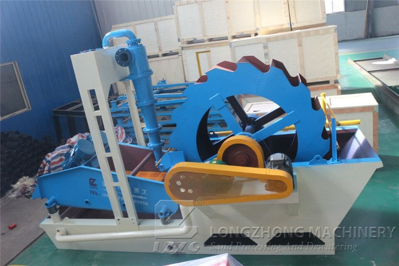 New application of sand washing and dewatering machine in longzhong