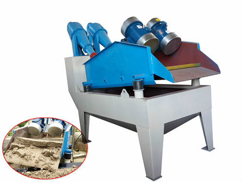 Sand recycling system reduces the sand loss.
