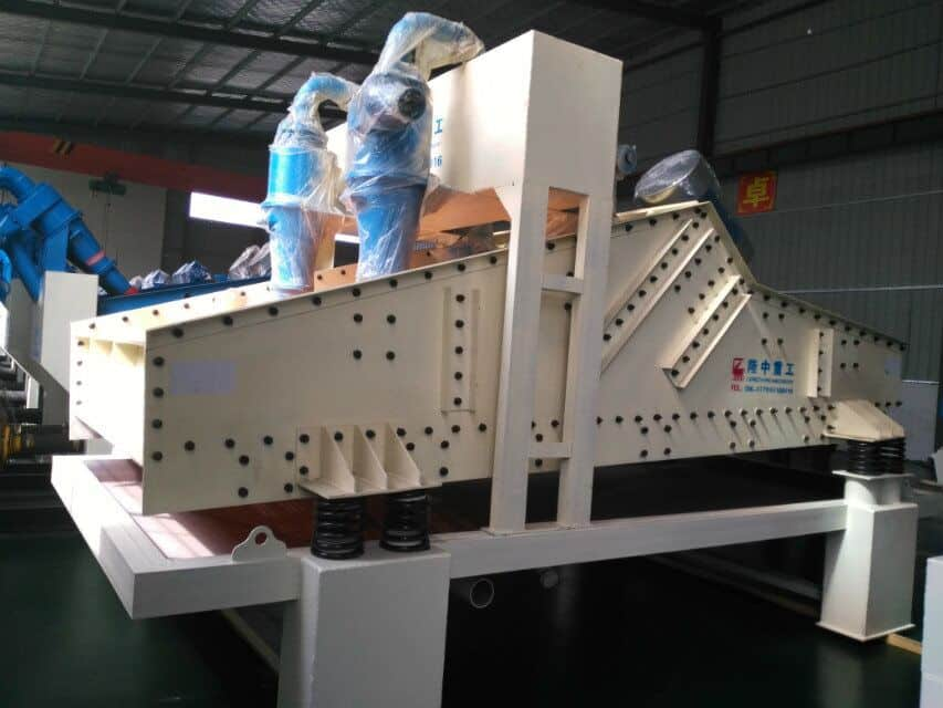 QWhy use vibrating dewatering screen