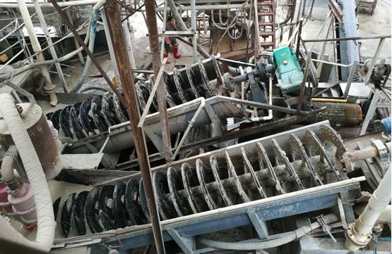 Screw_Sand_Washing_Machine_in_Vietnam