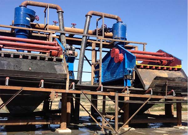 tailings dewatering equipment work site