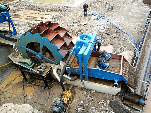 20tph sand washer and dewatering screen