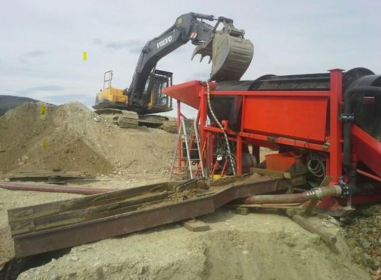 placer gold mining machine
